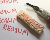 REDRUM Handmade Rubber Stamp// The Shining