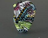 Handmade lampwork bead focal     Visions Of Future    free-formed     SRA     artisan glass    Silke Buechler