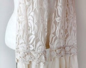 Soft, layered lace scarf, romantic, country, shabby chic