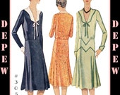 Vintage Sewing Pattern Reproduction Ladies' 1920's Dress #3059 - INSTANT DOWNLOAD