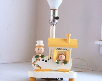 Vintage Irme nursery lamp the old woman who lived in a shoe nursery rhyme