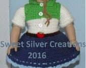 18 inch American Girl Crochet Pattern - Apple Jacks