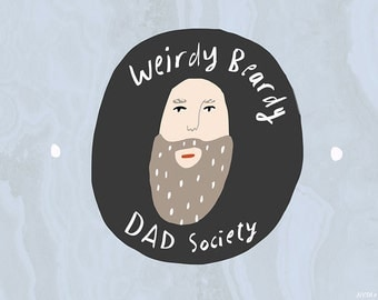 Beardy Dad card cc171