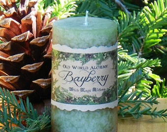 Bayberry Candles . Old World Alchemy . Yule, Christmas, Winter Solstice, Luck, Money & Prosperity