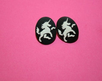 Small Unicorn Cameo Earrings + MORE COLORS!
