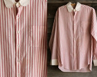 SALE - Antique Barber Shirt