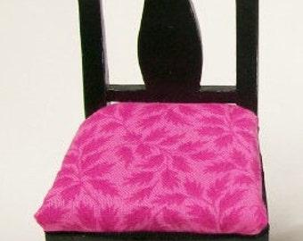 Hot Pink Black Chair Dining Furniture Artisan 1:12 Dollhouse Minatures