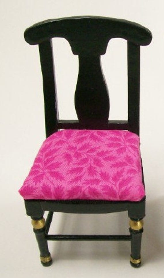 Hot Pink Black Chair Dining Furniture Artisan 112 Dollhouse : il570xN872195060ne7q from www.etsy.com size 570 x 964 jpeg 83kB