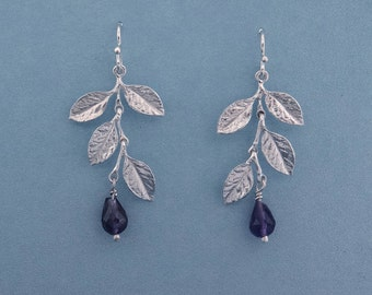Double Wisteria Earrings with Amethyst