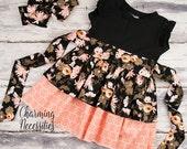 Toddler Girl Clothes, Girls Dress, Party Dress, Darling Damsel Black by Charming Necessities Toddler Girl Boutique Clothes