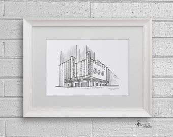 Sketch Series - Radio City Music Hall, New York City - Art Print (5 x 7)
