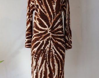 Vintage 1970s Goldworm Dress ~ Vintage 70s Abstract Print Shift Dress Made In Italy Goldworm Size 10