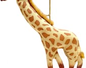 GIRAFFE collectible Gladys Boalt Christmas ornament signed soft sculpture ornament . holiday decor . Standing Giraffe