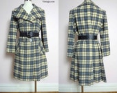 1960s La Vigna Plaid Cashmere Coat