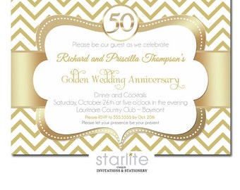 50th anniversary invitations – Etsy