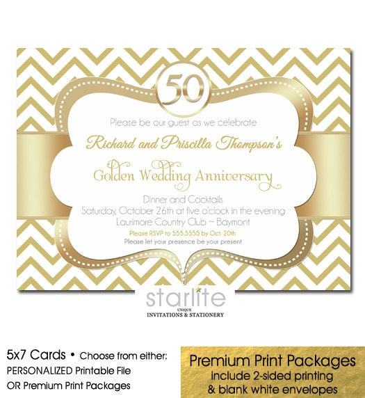 Golden Wedding Anniversary Invitations Wording: 50th Anniversary Invitation Golden Wedding Anniversary