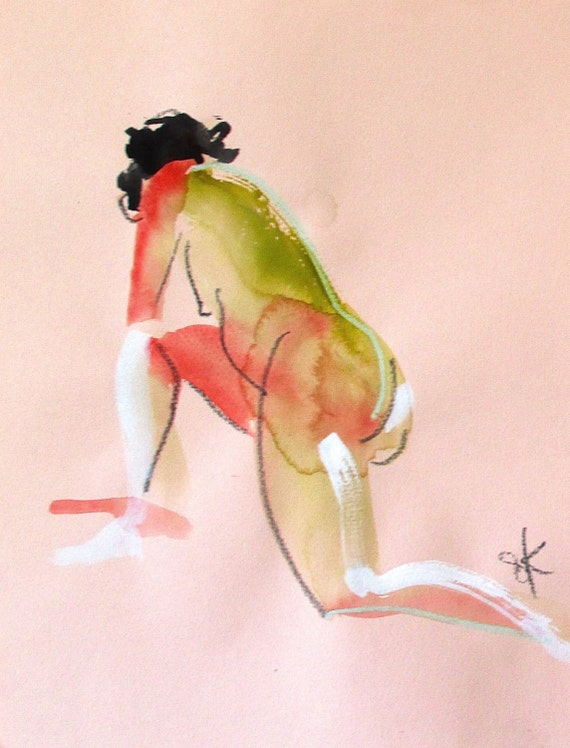 Nude painting of One minute pose 90.3  Original painting by Gretchen Kelly