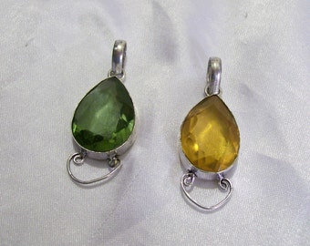Gemstone Pendants Treasure Chest Findings You Get Both Gemstones  925 Sterling  Crafted Templation  Pendants Mosaic Charm  BB18