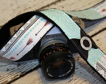 Arrow Camera Strap - dSLR Camera Strap - Camera Strap - Cute Camera Strap - Camera Strap for Nikon, Canon - Gift for Her - Padded Camera