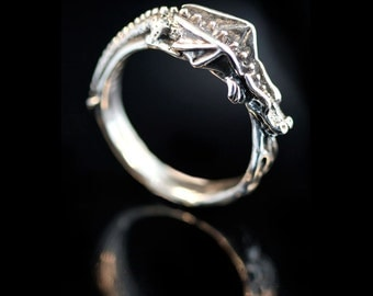 Dragon Ring Flame Dragon Dragon Ring Silver Game of Thrones Inspired Jewelry Pinky Ring Thumb Ring Silver Ring Dragon Lover Dragon Age