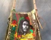 Satisfy my soul Bob Marley Rastafari bag rasta handbag tote cross body one love