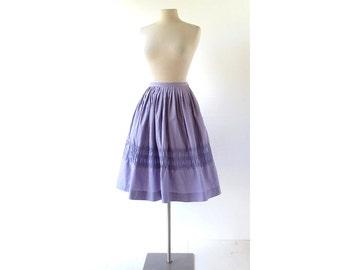 Vintage 1950s Skirt | Purple Full Skirt | 50s Skirt | Bobbie Brooks | 25W XS