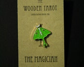 The Magician Limited Edition WOODEN TAROT Enamel Pin