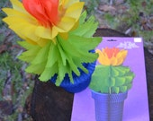 Danish Honeycomb Paper Potted Flower