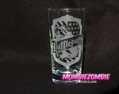 Harry Potter - Hufflepuff  Etched glasses House Pride