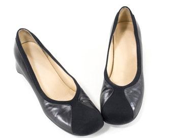 Vintage Ballet Flats Audrey Hepburn Leather Loafers Size 9.5