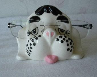 Vintage Arnel Cute Dog EYEGLASSES Holder Let Him Hold Your Glasses! (Glasses not included) Arnel