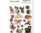 Woodland Animal Retro Planner Scrapbook Cardmaking Stickers | ST-57NW05