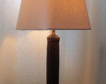 Anaconda Malleable industrial table lamp with optional shade or Edison bulb