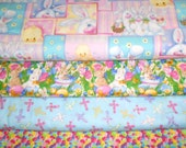 EASTER #2  Fabrics, Sold INDIVIDUALLY not as a group, by the Half Yard