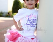 Flower girl shirt - Wedding - Embroidered shirt - flower girl gift - flower girl outfit - bridal party  - wedding party - wedding