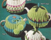 PDF Knitting Pattern 4 Styles of Tea Cosies