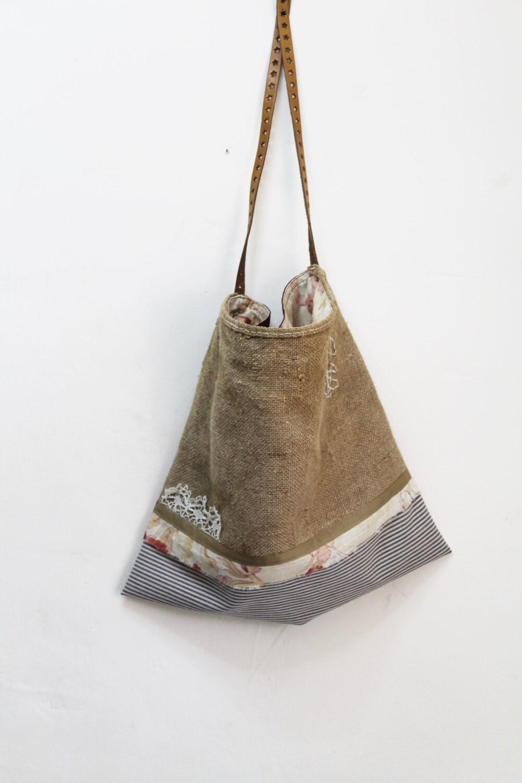 French Grain Sacking Fabric Vintage Hemp Grain By