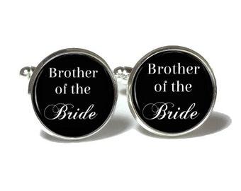 Brother of the Bride Cufflinks, Personalized Cufflinks,  Wedding Cufflinks, Style 663