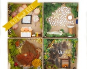 Fairy House Craft Kit for Kids and Adults , Fairy Garden Furniture Crafting DIY Nature All Natural Eco Friendly Birthday Gift