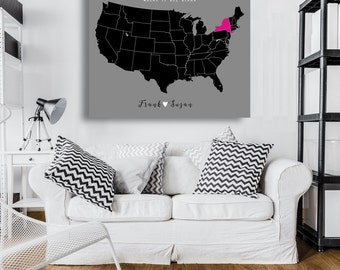 Farmhouse Decor Rustic Home Map Us Art Sign Country Minimalist