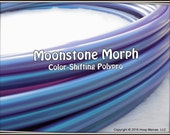 "NeW! Color-Shifting 'MOONSTONE MORPH' Polypro!  3/4"" & 5/8"" OD Hoop Or Minis Set! Free Sanding Option."