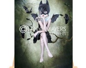 Aceo Card - Bat girl - Moonlighting