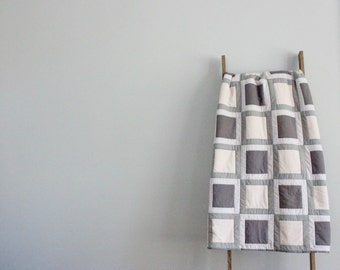 Custom Made-to-Order Bed or Throw Quilt in Colors of Your Choosing - Sashed Squares Design