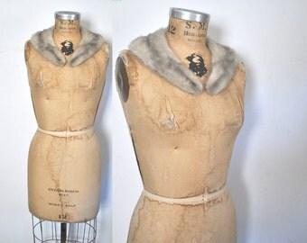 Gray Silver Mink Fur Collar