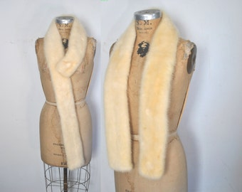 BLONDE Mink Fur Collar Scarf / wedding bridal