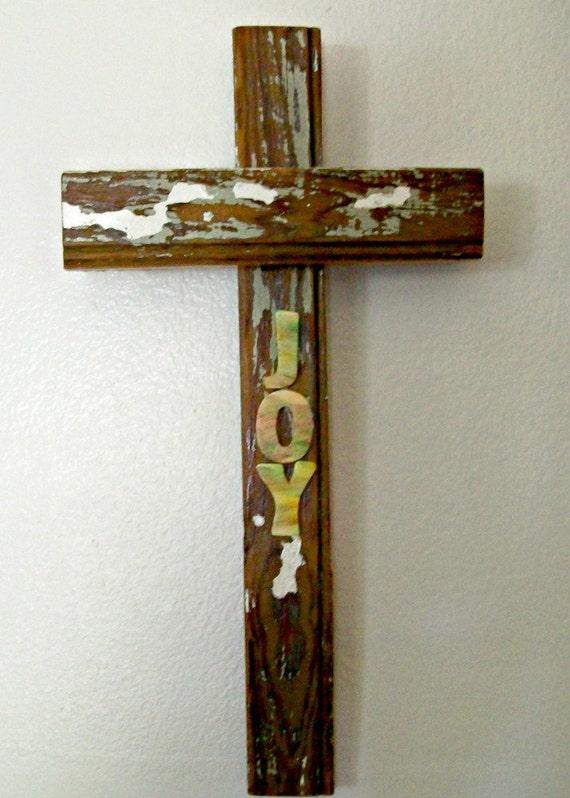 Rustic wood cross christian home decor christian by for Christian home decor