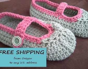 House Shoes for Women, Mary Jane House Shoes, Adult Size, House shoes, Slippers, Baboosh, Wabaki, Indoor Shoes, Crochet Slippers
