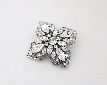 Bridal hair clip, Rhinestone hair comb, Wedding headpiece, Bridal hair comb, Swarovski crystal comb, Bridal hair pin, Art Deco headpiece
