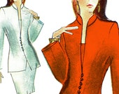 Lauren Sara Power Suit! Vintage ©1995 Vogue Attitudes Lauren Sara Sewing Pattern 1548, Misses' Jacket, Top & Skirt, Sizes 18-20-22, Uncut