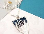 Winter Personalised Pendant Necklace - Silver